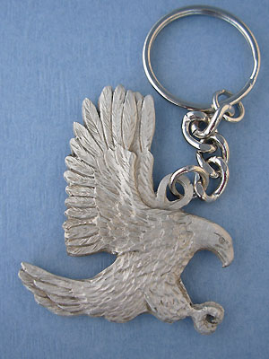 Eagle Keychain Lead Free Pewter