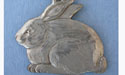 Large Bunny Keychain Lead Free Pewter