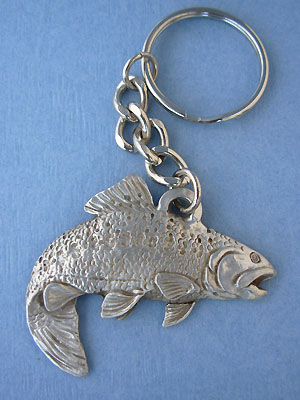 Trout Keychain Lead Free Pewter