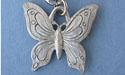 Butterfly Keychain - Lead Free Pewter