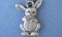 Small Rabbit Keychain Lead Free Pewter