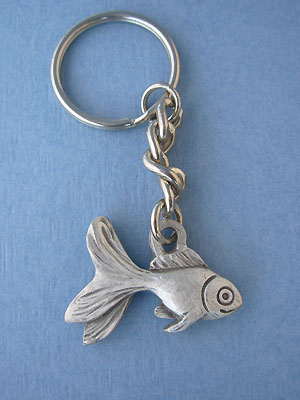 Small Fish Keychain Lead Free Pewter