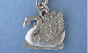 Small Swan Keychain Lead Free Pewter