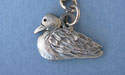 Small Duck Keychain Lead Free Pewter