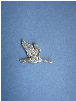 Goose Lapel Pin Lead Free Pewter