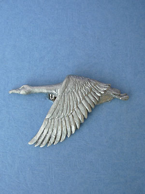 Canadian Goose Brooch Lead Free Pewter