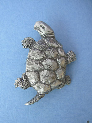 Turtle Brooch Lead Free Pewter