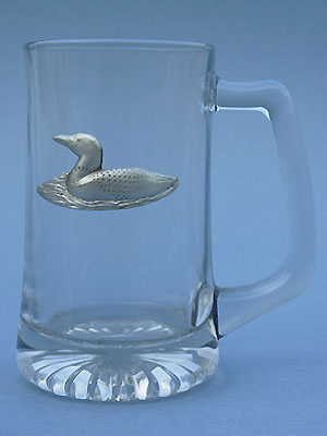 Loon Beer Mug - Lead Free Pewter