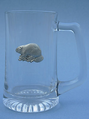 Beaver Beer Mug Lead Free Pewter
