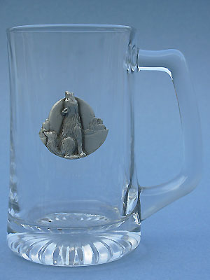 Howling Coyote Beer Mug - Lead Free Pewter