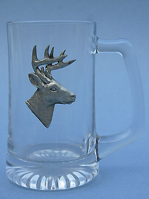 White Tail Deer Beer Mug Lead Free Pewter