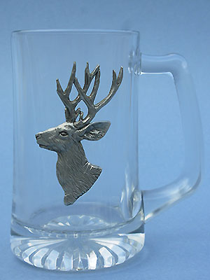 Mule Deer Beer Mug Lead Free Pewter