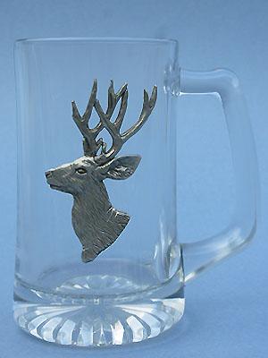 Mule Deer Beer Mug Lead Free Pewter