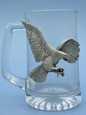 Eagle Beer Mug Lead Free Pewter