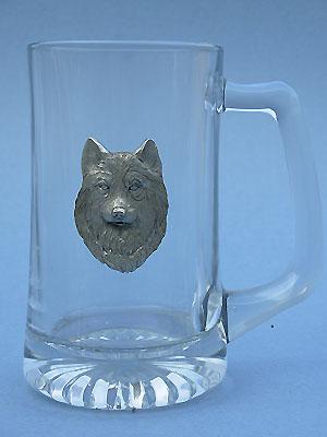 Wolf Head Beer Mug Lead Free Pewter