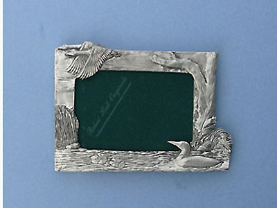 3.5x5 Loon Picture Frame - Lead Free Pewter