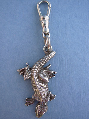 Lizard Zipper Puller Lead Free Pewter