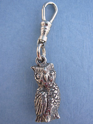 Owl Zipper Puller Lead Free Pewter