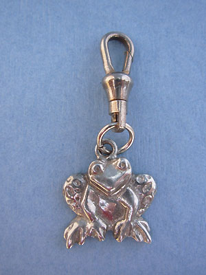 Frog Face Zipper Puller Lead Free Pewter