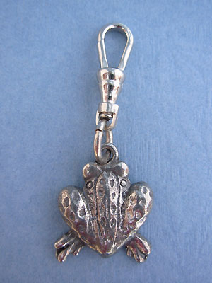 Frog Back Zipper Puller Lead Free Pewter