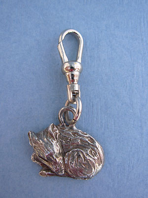 Baby Fawn Zipper Puller Lead Free Pewter
