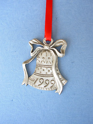 1999 Bell Annual Ornament - Lead Free Pewter