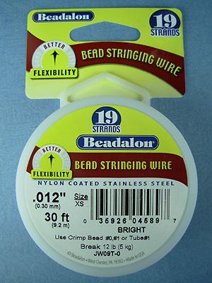 "19 Strand .012"" Bright Beadalon Wire - 30 ft."