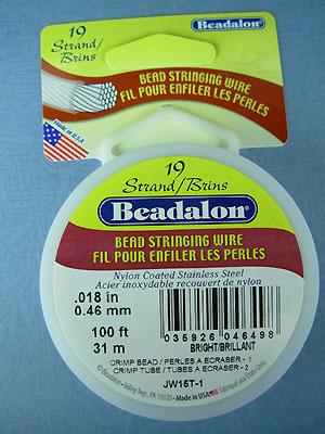 "19 Strand .018"" Bright Beadalon Wire - 100 ft."