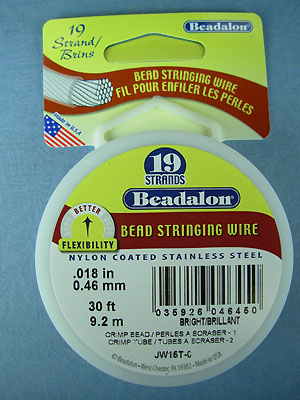 "19 Strand .018"" Bright Beadalon Wire - 30 ft."