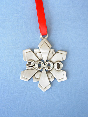 2000 Snowflake Annual Ornament - Lead Free Pewter