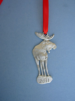 2011 Moose Annual Ornament - Lead Free Pewter