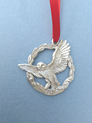 2013 Owl Annual Ornament - Lead Free Pewter