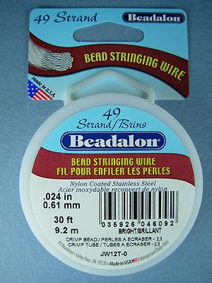 "49 Strand .024"" Bright Beadalon Wire - 30 ft."