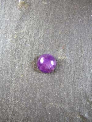8mm Amethyst Round Cabochon