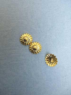 Bead Cap - Gold Plated / 12pcs
