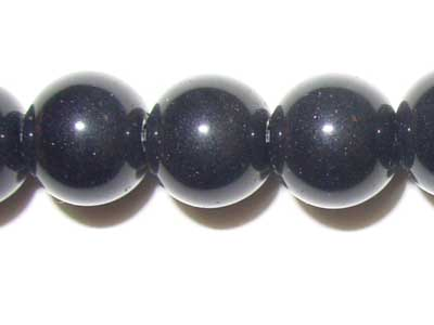 10mm Round Black Agate Beads