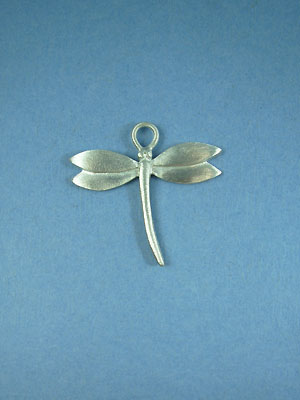 Plain Dragonfly Pendant - Lead Free Pewter