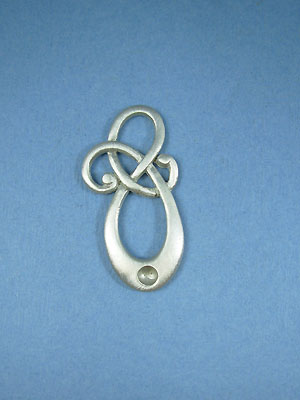 Celtic Scroll with Bead Pendant - Lead Free Pewter