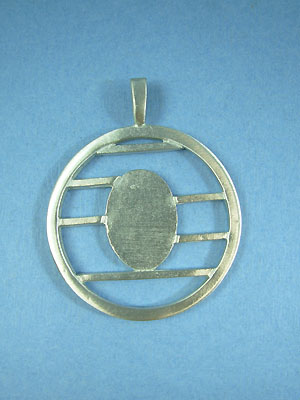 Large lined Circle Pendant - Lead Free Pendant