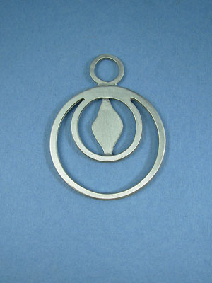 Double Ring Pewter Setting - Lead Free Pewter
