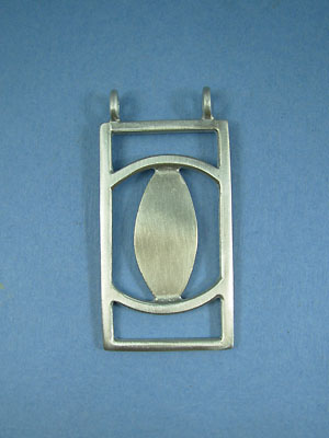 Rectangular Pewter Setting - Lead Free Pewter