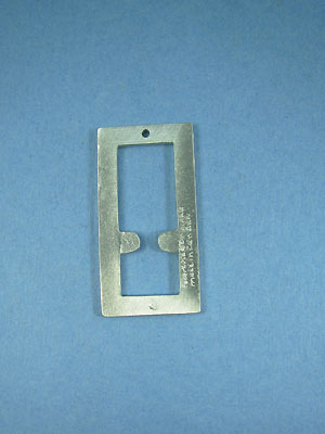Rectangle with Hole Pewter Setting - Lead Free Pewter