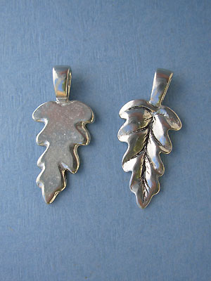 Large Leaf Beavertail - pk of 3 - Lead Free Pewter