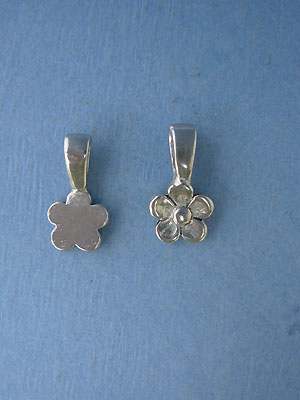 Flower Beavertail - Pk of 3 - Lead Free Pewter