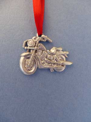 Motorcycle Ornament - Lead Free Pewter