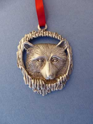 Raccoon Ornament - Lead Free Pewter