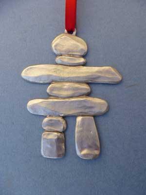 Lg. Inukshuk Ornament - Lead Free Pewter
