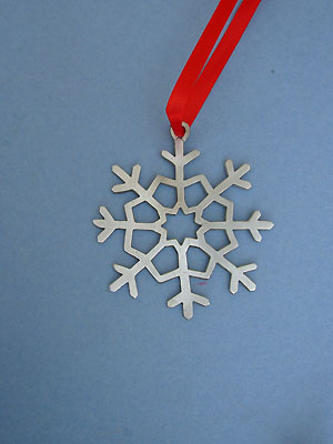 Snowflake Ornament - Lead Free Pewter