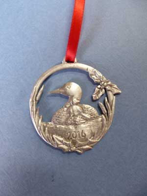 2016 Loon & Chick Annual Ornament - Lead Free Pewter