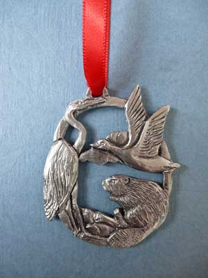 2017 Canadian Wildlife Annual Ornament - Lead Free Pewter